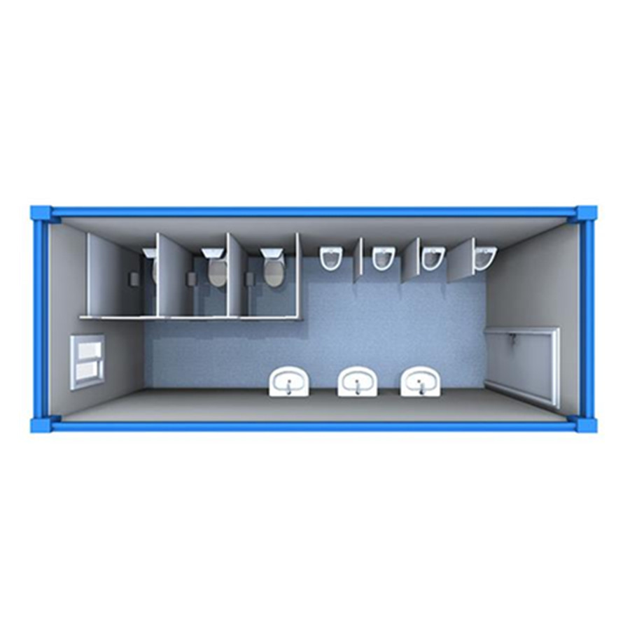 20ft container armal portable public toilet camping