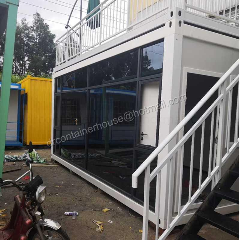 low cost prefabricated container van house coffee bar for sale philippines