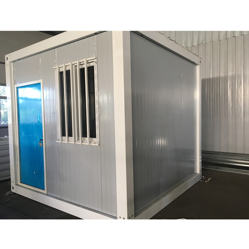 prefabricated outdoor security guard house cabin design layout