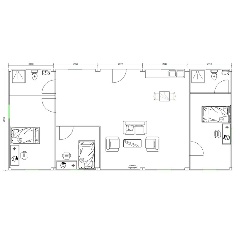 3 bedroom prefab modular container house home floor plans
