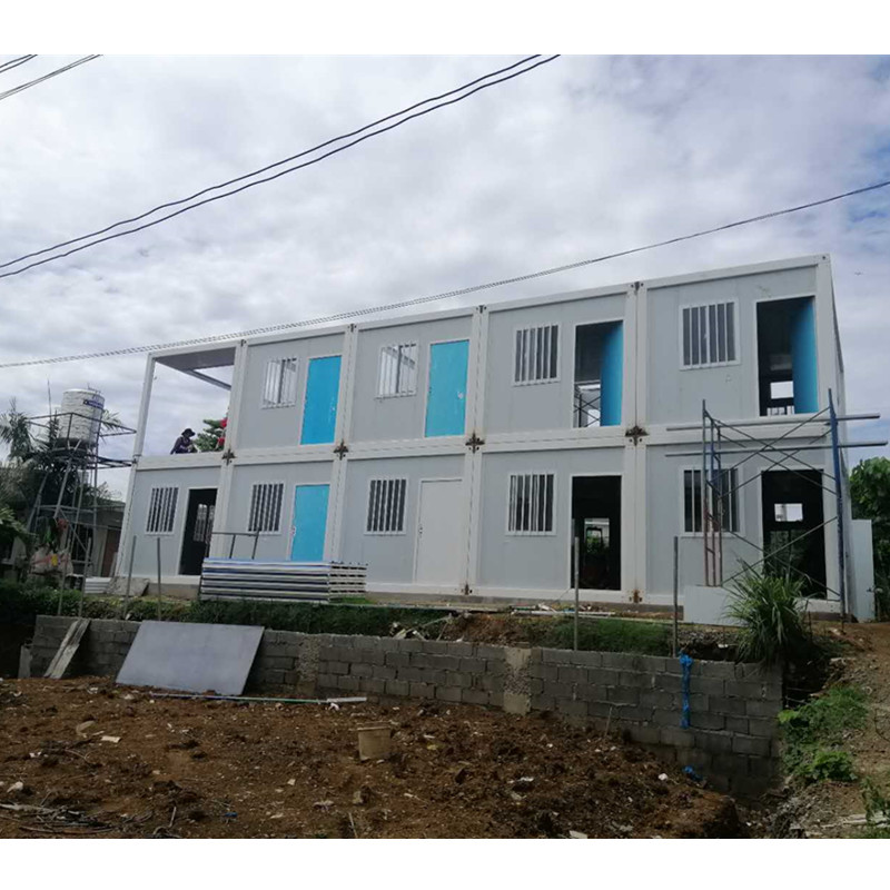 prefab prefabricated 2 story duplex container home philippines