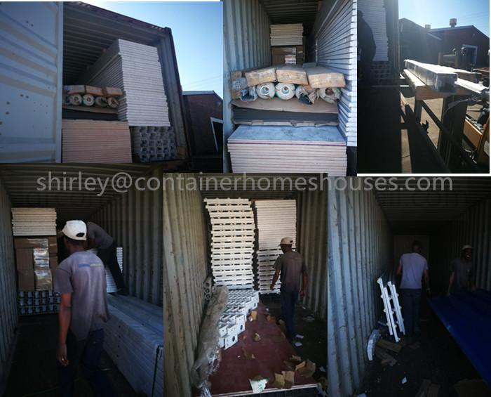 see distributor in south africa how to unload container,how to install prefab tiny house container
