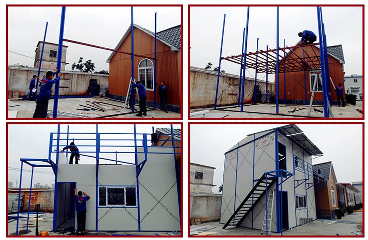 80m2 three bedrooms low cost guangzhou prefabricated house homes prices