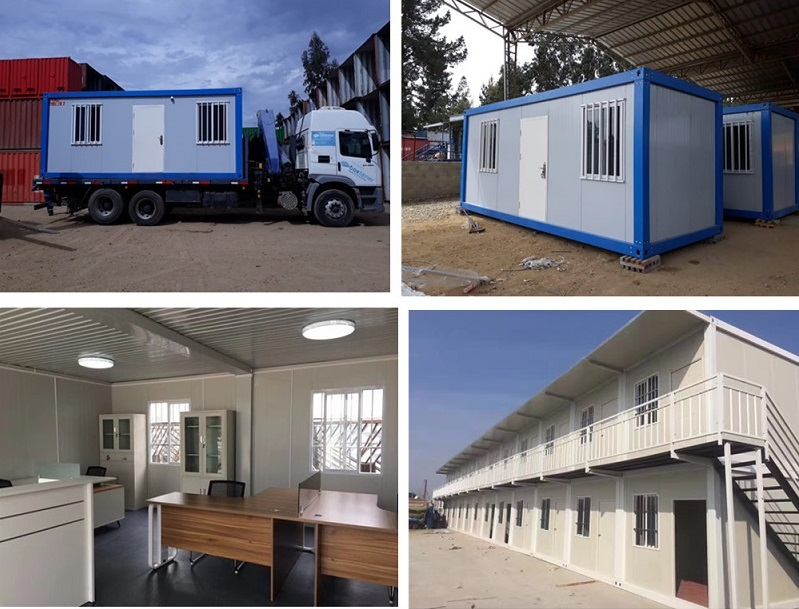 20ft prefab flat pack mobile modular iso shipping container frames