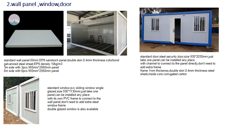 medical foldable offices container caravan 20ft